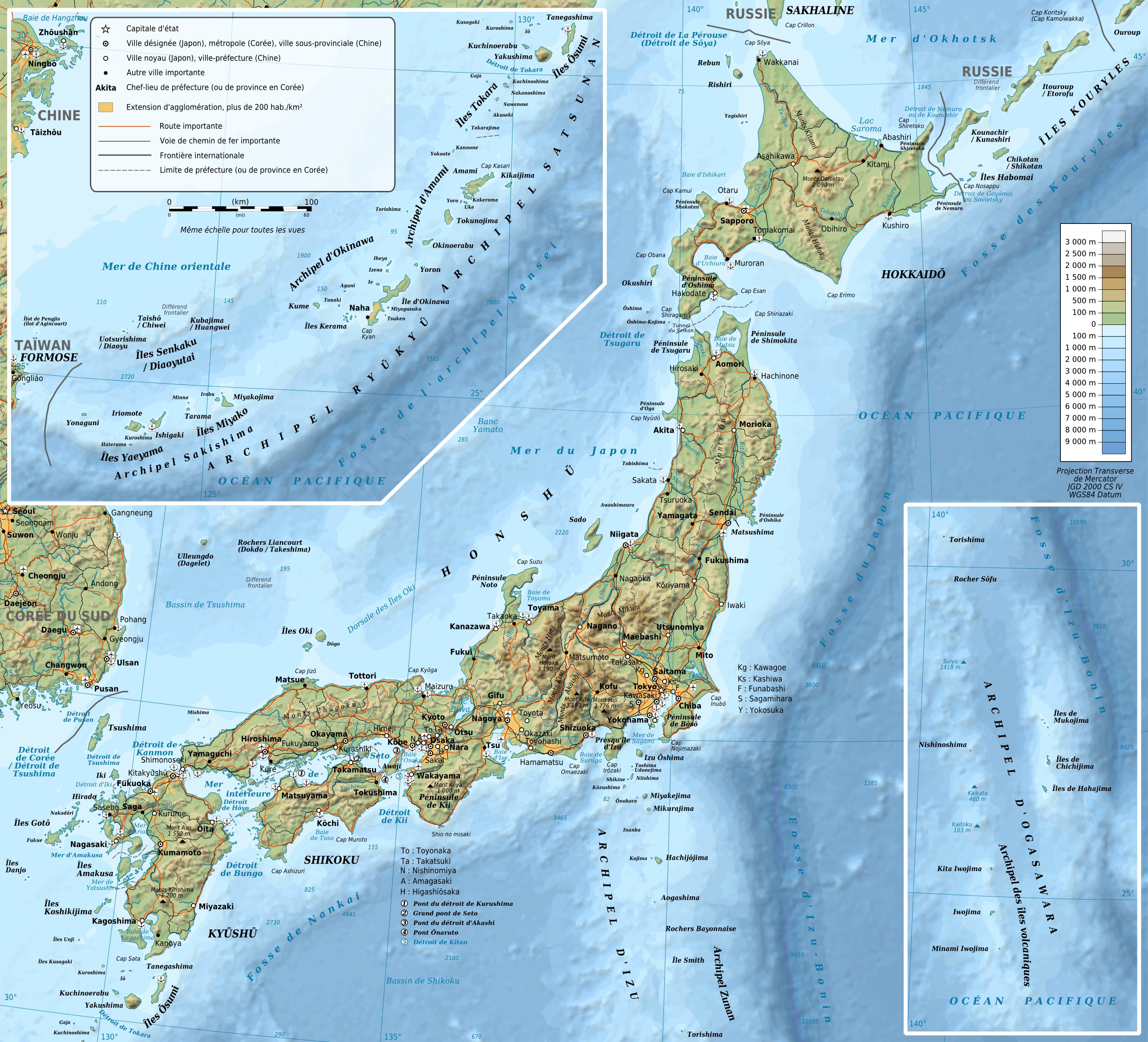 carte du japon – World Map, Weltkarte, Peta Dunia, Mapa del mundo