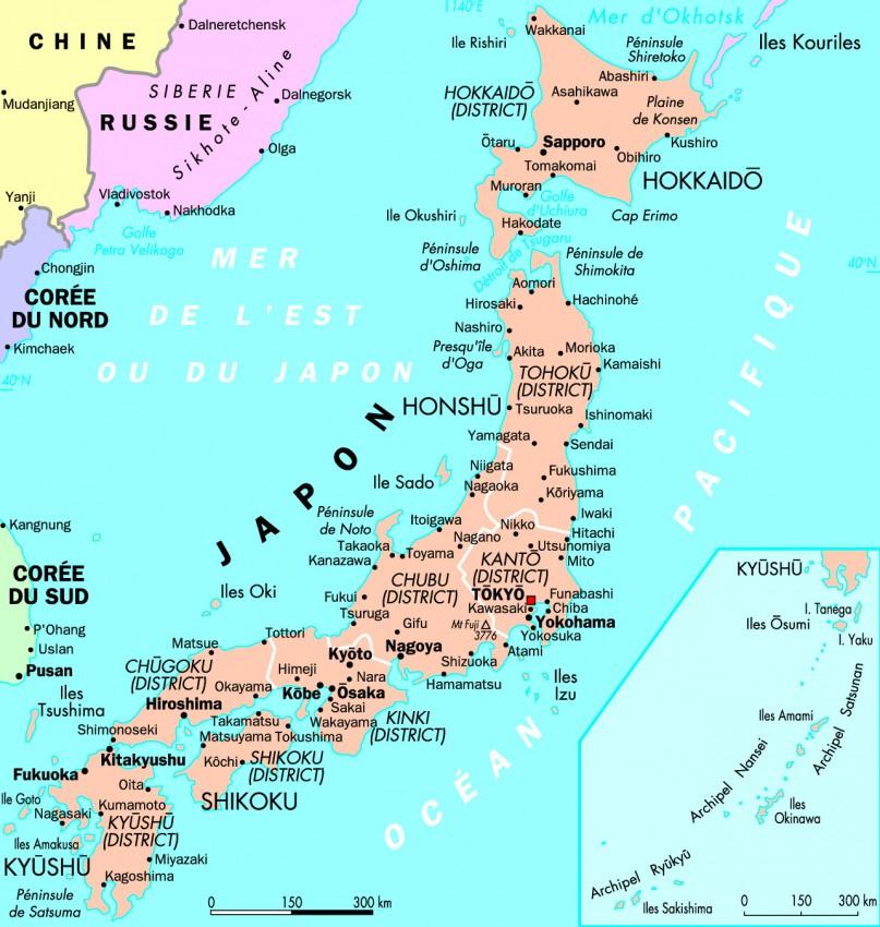 Carte détaillée du Japon N°3