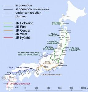 carte shinkansen japon