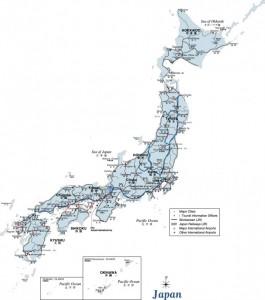 carte train japon