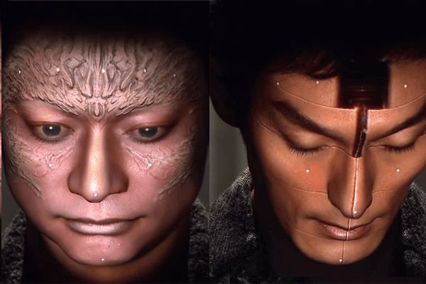 france japon insolite Face Hacking projection 3d visage