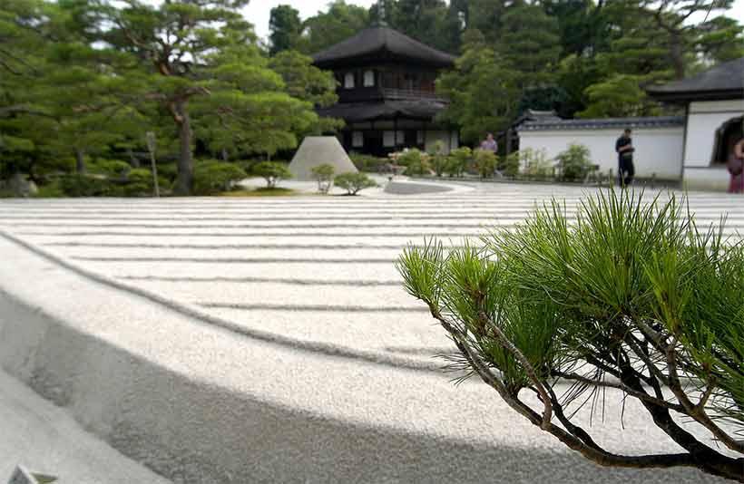 france japon visiter kyoto Ginkakuji Sea of Silver Sand